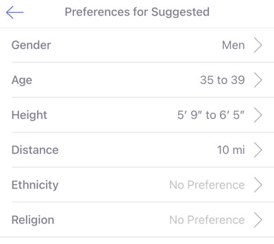 CMB Suggested Preferences
