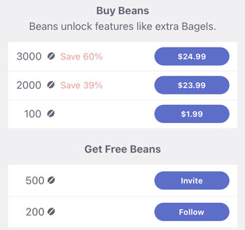 CMB Beans cost
