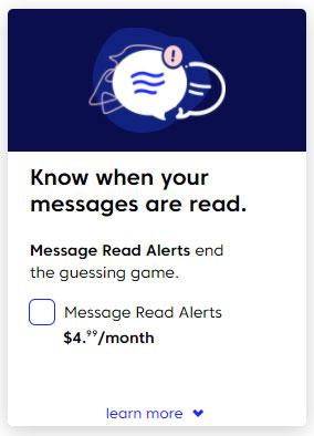 Match message read receipts