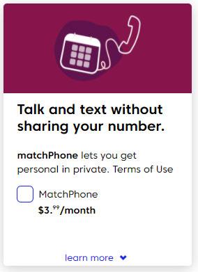 Match phone cost