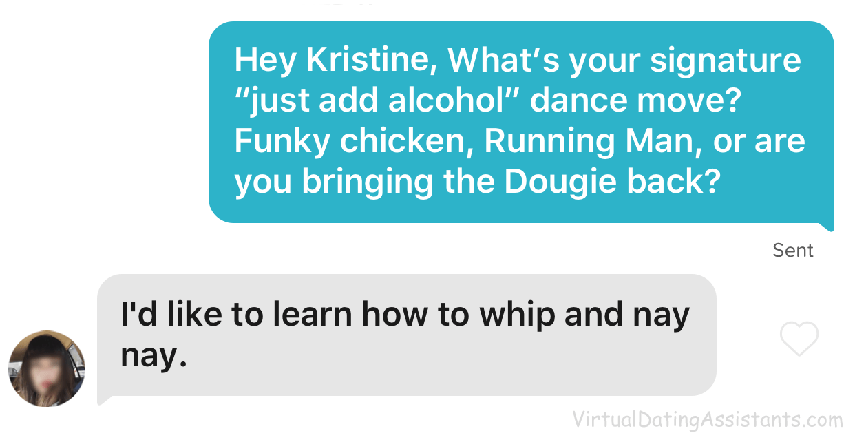 witty tinder message example