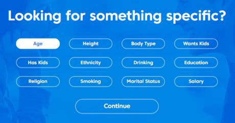 match search criteria
