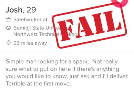 Tinder profile examples