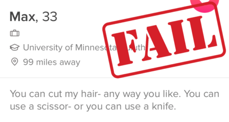 creepy Tinder bio