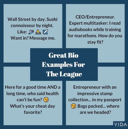 About Me examples for The League