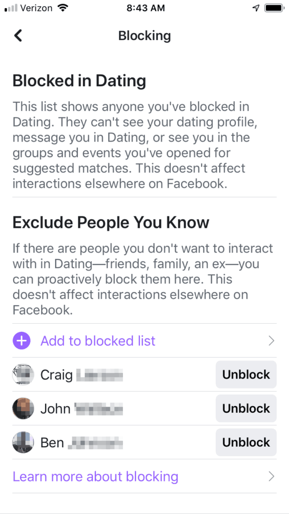 Facebook Dating Unblock