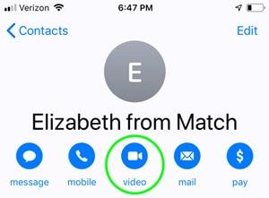 iOS contact