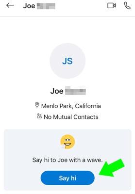 how to say hi on Skype