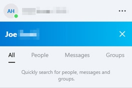 Skype search