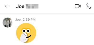 Skype notification
