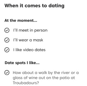 Match Dates preferences