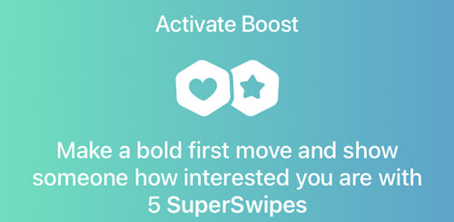 Bumble Boost SuperSwipes