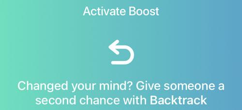 Bumble Boost Backtrack