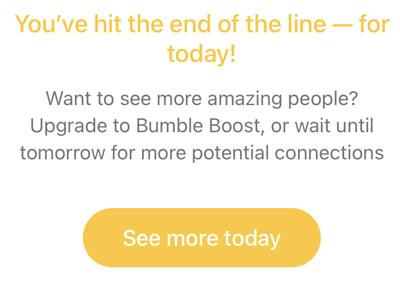 Bumble swipe limit