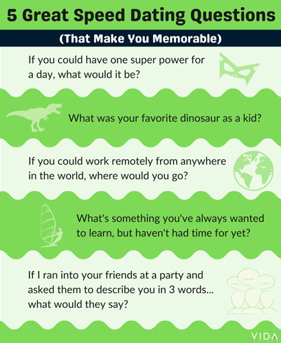 Great speed dating questions to ask